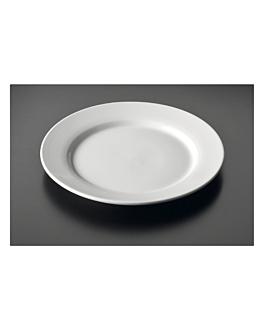 platos llanos Ø 23 cm blanco porcelana (36 unid.)