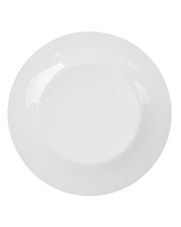 piatti piani Ø 23 cm bianco porcellana (36 unitÀ)