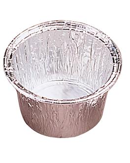 recipientes pastelerÍa 85 ml Ø 7/6,1x3,8 cm aluminio (100 unid.)