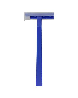 aparelhos barbear lÂmina dupla a granel 10 cm azul pehd (100 unidade)