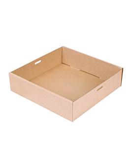 """scatole """"traiteur"""" s 375 g/m2 22,5x22,5x6 cm naturale kraft (100 unitÀ)"""