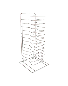 pizza rack 15 deckers 30,4x30,4x68 cm silver metal (1 unit)