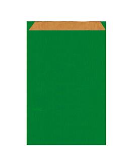 bolsas planas 60 g/m2 26+9x38 cm verde kraft verjurado (250 unid.)
