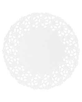 dentelles rondes ajourÉes 53 g/m2 Ø 9 cm blanc papier (250 unitÉ)