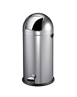 push pedal bin 22 l Ø 33x63 cm silver stainless steel (1 unit)