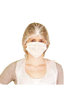 redes para cabello 40x16x16 cm blanco dry tissue (100 unid.)