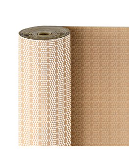 papel regalo 50 m abetos 60 g/m2 70 cm kraft verjurado (1 unid.)