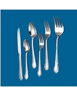 "dessert forks ""linea 2055"" 17,8 cm/ 1,5 mm metal stainless steel 18% (12 unit)"