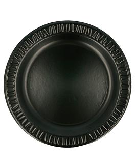 prato em foam laminado com p.e. Ø 23 cm preto pse (500 unidade)