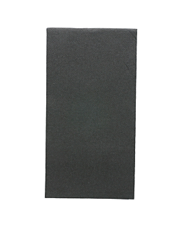 guardanapos ecolabel dobrados 1/8 'double point' 18 g/m2 40x40 cm preto tissue (1200 unidade)