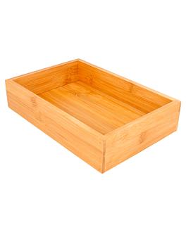 scatola per buffet 15,5x23x5 cm naturale bambÙ (1 unitÀ)