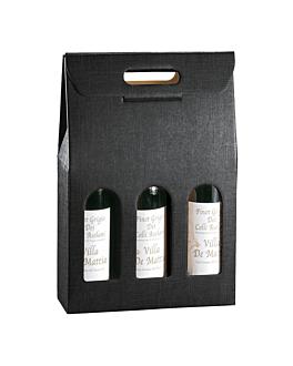 30 u. cartons 3 bouteilles 27x9x38,5 cm noir carton (1 unitÉ)