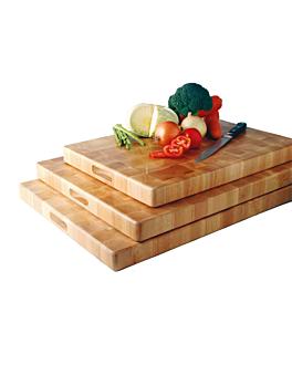 chopping board 30x45x4,5 cm natural wood (1 unit)