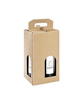 20 u. cajas 4 botellas 18x18x34 cm natural kraft (20 unid.)
