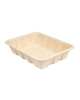 trays 'bionic' 1000 ml 22x16,5x4,7 cm natural bagasse (400 unit)