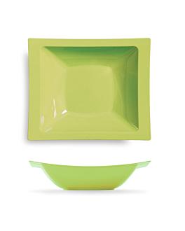 10 u. assiettes creuse 400 ml 19,5x16,2 cm vert anis ps (12 unitÉ)
