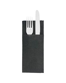 """napkins """"cangurito"""" 55 gsm 33x40 cm black airlaid (900 unit)"""