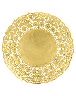 rundes zierdeckchen metallisiert 40 g/m2 + 20 g/m2 Ø 19 cm goldfarben lithographie metallisiert (100 einheit)