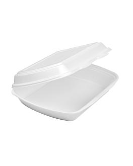 containers 24x21x7 cm white eps (200 unit)