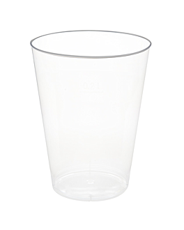 injected standard glasses 180 ml Ø 6,8x8,3 cm clear cristal ps (1000 unit)