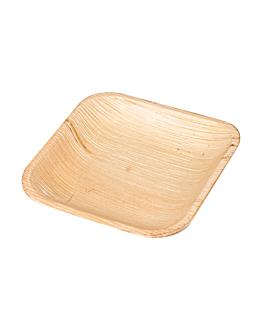 platos cuadrados 'areca' 11,5x11,5x1,5 cm natural areca (200 unid.)