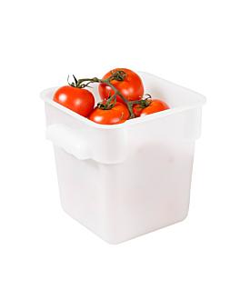 contenitore alimenti 4 l 18x18x19 cm bianco pp (1 unitÀ)