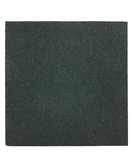 napkins glitter 'double point' 18 gsm 20x20 cm black tissue (2400 unit)