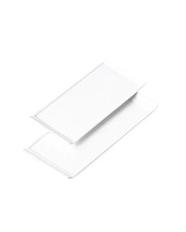 platos rectangulares 33x22,5x1,8 cm blanco porcelana (12 unid.)