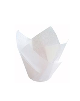 moldes cupcake 'tulip' 50 g/m2 15x15 cm blanco perg. antigrasas (1000 unid.)