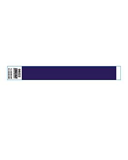 braccialetti non trasferibili adesivo 2x25,5 cm blu pvc (1000 unitÀ)