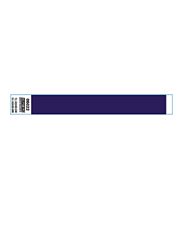 kontrollarmbÄnder selbstklebend 2x25,5 cm blau pvc (1000 einheit)