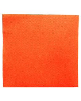 serviettes ecolabel 'double point' 18 g/m2 39x39 cm orange ouate (1200 unitÉ)