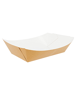 containers 2400 g 300 gsm 17x9,5x6,5 cm brown cardboard (100 unit)