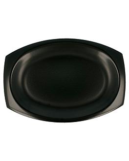 bandeja em foam laminada + p.e. 28x19,5 cm preto pse (500 unidade)
