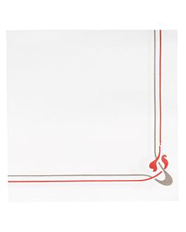 ecolabel napkins burgundy & grey 'double point - maxim' 18 gsm 40x40 cm white tissue (1200 unit)