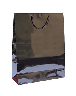 bolsas boutique, asa cordÓn 150 g/m2 40+15x50 cm negro kraft (100 unid.)
