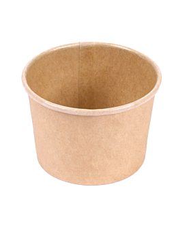 small containers 30 ml 210 + 18 pe gsm Ø6,15/5x4 cm brown cardboard (1000 unit)
