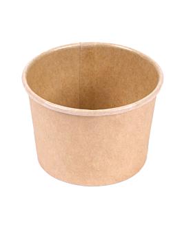 pequeÑas tarrinas 30 ml 210 + 18 pe g/m2 Ø6,15/5x4 cm marrÓn cartoncillo (1000 unid.)