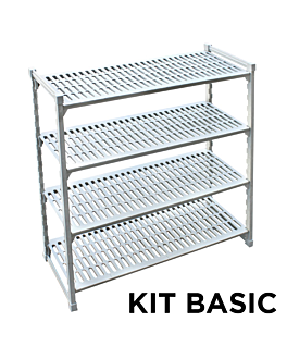 ventilated shelf windshelving 45,5x152,5x180 cm grey steel (1 unit)