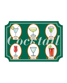 """mantelines """"offset"""" troquelado """"cocktail"""" 70 g/m2 40,5x29,5 cm cuatricromÍa litos (2000 unid.)"""