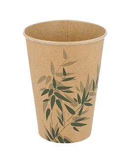 cups 'feel green' 9 oz - 270 ml 250 + 18 pe + 18 pe gsm Ø7,8x9,5 cm brown cardboard (2500 unit)