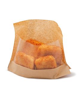 sacs avec base et fenÊtre 'kangoo pack' 40 g/m2 + 15 pp 14x16/12x3 cm naturel kraft (100 unitÉ)