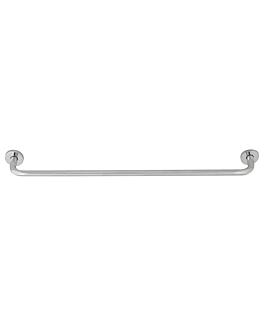 barra toalla 60x4,5x7,2 cm plateado inox (1 unid.)