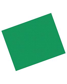 manteles en hojas 48 g/m2 100x100 cm verde celulosa (250 unid.)