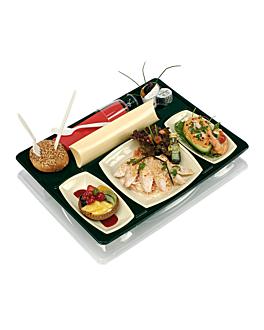vassoi per alimenti da asporto 43,5x33,5x6 cm nero pet (60 unitÀ)