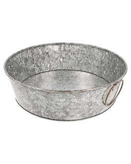 vassoio rotondo Ø 27,5x8 cm zincato acciaio (1 unitÀ)