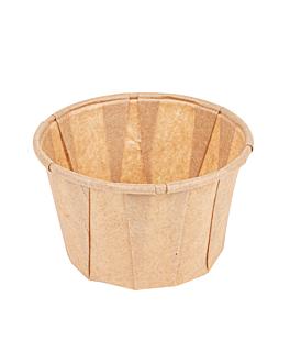 pots traiteur plissÉ 60 ml Ø5,4x3,4 cm naturel parch.ingraissable (250 unitÉ)