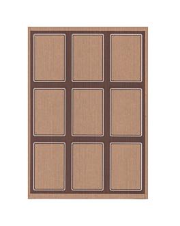 100 feuilles din a4 9 Étiquettes rectangulaires 6,3x9 cm kraft (1 unitÉ)