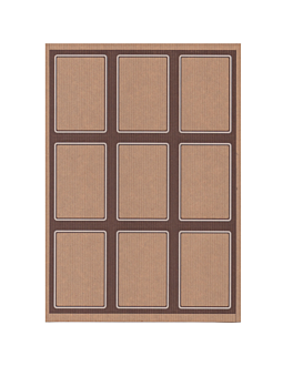100 fogli din a4 9 etichette rettangolari 6,3x9 cm kraft (1 unitÀ)