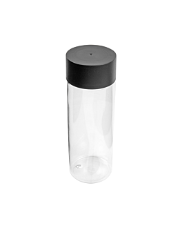 bottle + plastic cap 200 ml Ø5,5x16 cm clear pet (100 unit)